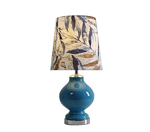Led Licht Einfache Wohnzimmer Schlafzimmer Nacht Mittelmeer Blauen Glas Lampenkörper, Handgewebte Schatten, Verfügbar Led Augenschutz Möbel Lampe -