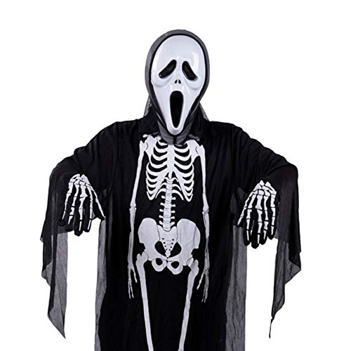 Starall Cosplay Männer Frauen Erwachsene Halloween Scary Kostüm Maskerade Prop Schädel Skeleton Geist Kleidung Teufel Maske Handschuhe (# - Geist Halloween Scary Kostüm