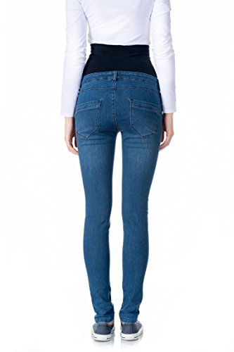 bellybutton Damen Umstandsjeans Jeans Slim mit Überbauchbund Blau (Blue 0013)