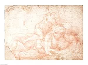 Michelangelo Buonarroti – Etude de nu masculin et féminin Impression d'art Print (60,96 x 45,72 cm)