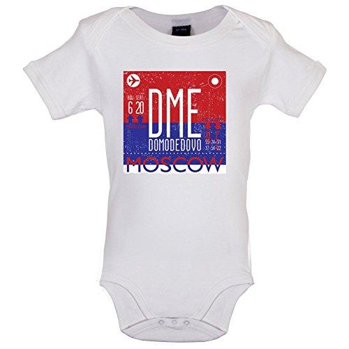 Moskau Flughafen - Lustiger Baby-Body - Weiß - 12 bis 18 Monate