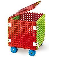 Preisvergleich für Baukasten Bausteine Bauklötze Boden Kreise Spielzeug für Kinder ab 2 Jahre Konstruktionsspielzeug Konstruktion Set Karton