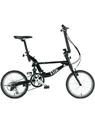 Bicicleta Plegable Jango Flik de TOPEAK (negro) EZV9 18'' Shimano Sora 11Kg 9 Velocidades Suspensión Trasera