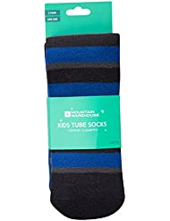 Mountain Warehouse Striped Kids Ski Tubes -Fine Toe Seams, Easy Care Socks, One Size Fits All - 2 Pack - Ideal For Skiing & Snowboarding