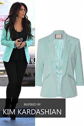 Mesdames Celebrity Inspiré mode intelligent Aménagée Taylor Blazer EUR Taille 36-44 Menthe