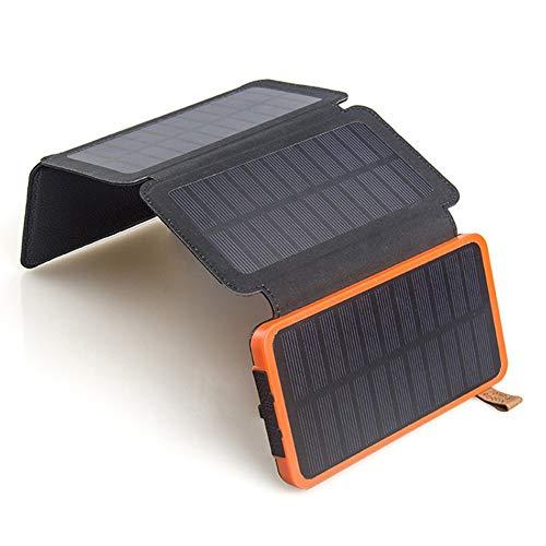 LTKKK Solar-Ladegerät, 155 * 164 * 15 mm Solar-Mobilnetzteil, einkristalliner 4-W-Klapp-Solarladeschatz für den Außenbereich, für Smartphones, Tablets und mehr - Solarenergie-handy-fall