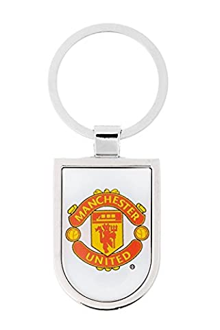 Metal keychain with football club Manchester United logo polymeric Stickers