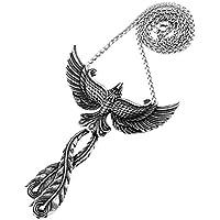 PAMTIER Men's Women's Stainless Steel Phoenix Pendant Necklace