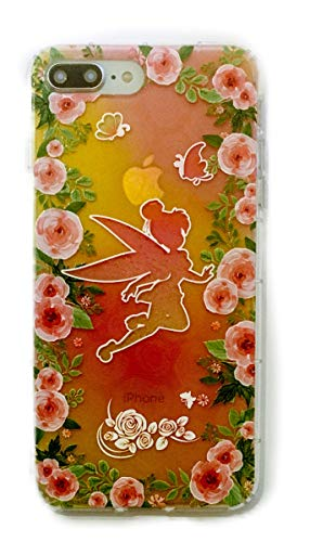 Phone Kandy EMB02 Schutzhülle für Mobiltelefon, stoßfest, stoßfest, tropfensicher, transparent, süßes Cartoon-Design, TPU/Silikon, inkl. Displayschutzfolie, iPhone X / 10, Fairy #1
