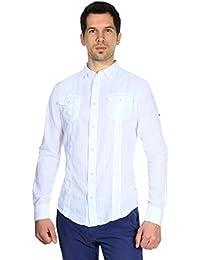 Armani Jeans Hommes Chemise Blanc V6C34BJ-10