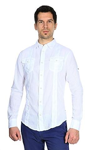 Chemise Homme Armani - Armani Jeans Hommes Chemise Blanc V6C34BJ-10,