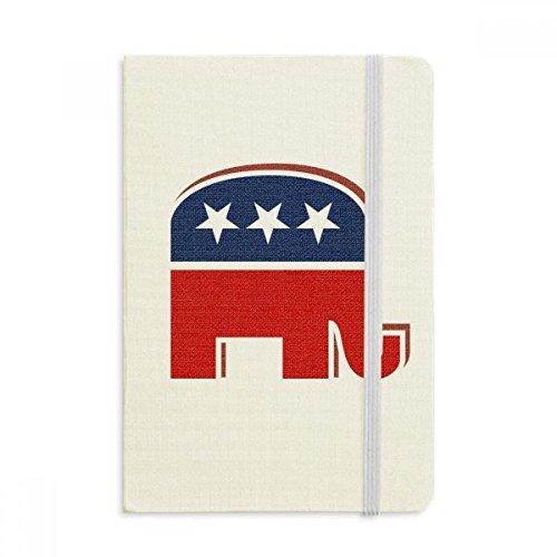 Klassische Republikanische Elefant (DIYthinker Amerika Elefant Emblem Republikanische Partei Notebook Stoff Hard Cover Klassisches Journal Tagebuch A5 A5 (144 X 210mm) Mehrfarbig)