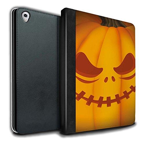 (Stuff4® PU-Leder Hülle/Case/Brieftasche für Apple iPad Pro 9.7 Tablet/Unheimlich Muster/Halloween Kürbis Kollektion)