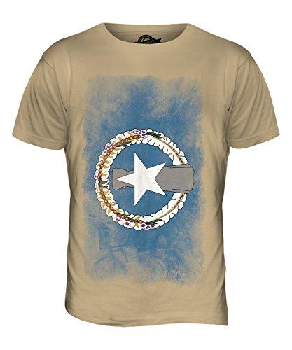 CandyMix Nördliche Marianen Verblichen Flagge Herren T Shirt Sand