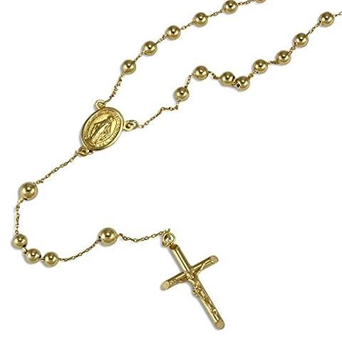 Sayers London 9K Gelbgold Rosenkranz Halskette