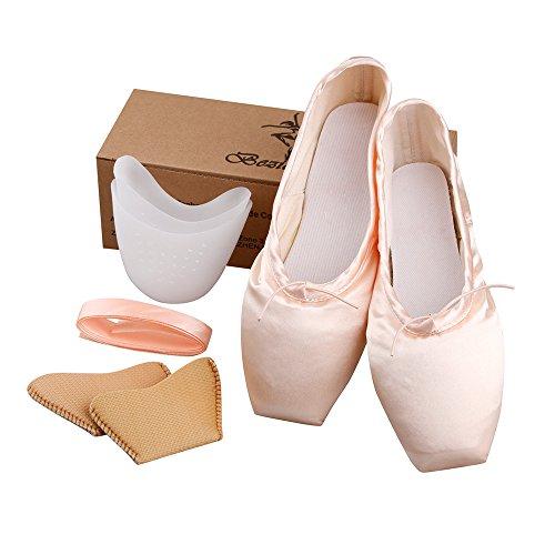 TXJ Punta Zapatos de Ballet para Niñas y Mujeres(Rosa,38)