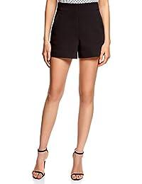 oodji Ultra Damen A-Linie-Shorts mit Seitlichem Reißverschluss