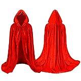 Labellevie Cape à capuchon Velours Enfant Unisexe Déguisement Costume Halloween