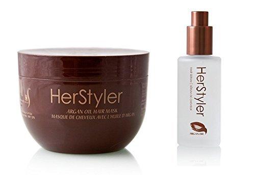 HerStyler Argan-Öl Haarserum und Haarmaske | Haar-Pflege-Set, die wiederhergestellt wird, Ihren...