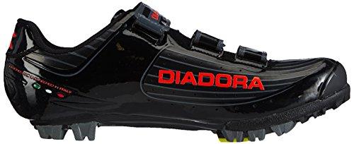 Diadora X TORNADO, Scarpe da ciclismo unisex Nero (Schwarz (schwarz/orange 4115))