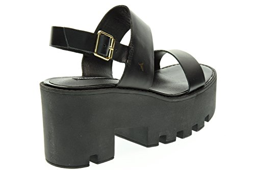 Sandales Windsor Smith Buffy en cuir noir Nero