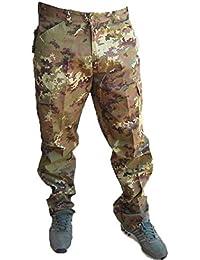 Hunter Pantalone Pantaloni Esercito Italiano vegetato ordinanza Cotone  Sfoderato (50) 4b340efc7ade