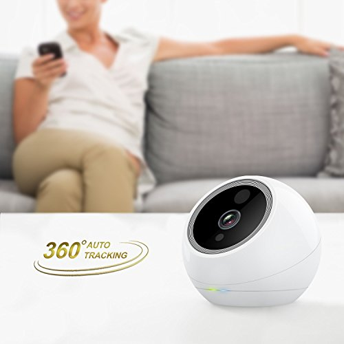 Amaryllo Atom HD Security Roboter-Kamera 360 Grad View, weiß -