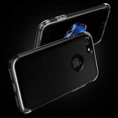 Coque iPhone 7, Housse Spigen [Hybrid Armor] AIR CUSHION [Or Rose] Clear TPU / PC Frame Slim Dual Layer Premium Coque Pour iPhone 7 - (042CS20696) HA Noir