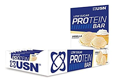 USN Low Sugar Protein Bar, 35 g, 24-Count