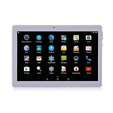Lnmbbs 10 zoll Tablet - 3G Android Telefon - Dual - SIM - IPS Display 1280*800 Tablet - PC (Quad - Core Prozessor, 2GB ROM, 16GB Speicher, Dual - Kamera, WLAN) - GPS - Navigation, mit Spezialangeboten (Gold)