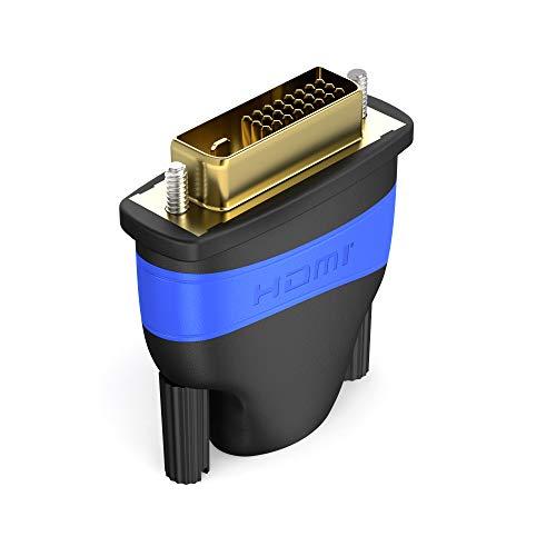 KabelDirekt - HDMI DVI Adapter - (High Speed HDMI - DVI Adapter, Full HD 1080p) - TOP Series Hdmi-dvi-adapter Audio