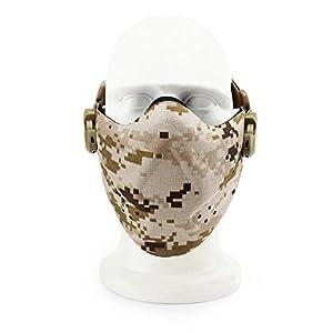 Haoyk Airsoft Paintball visage Nez tactique de protection en néoprène Demi masque visage en mousse rigide