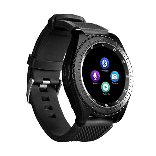Aikrun Men's and Women's Analogue-Digital Z3 Bluetooth Smartwatch with Sim Card Support with Touch Screen for All Android and iOS (Black)