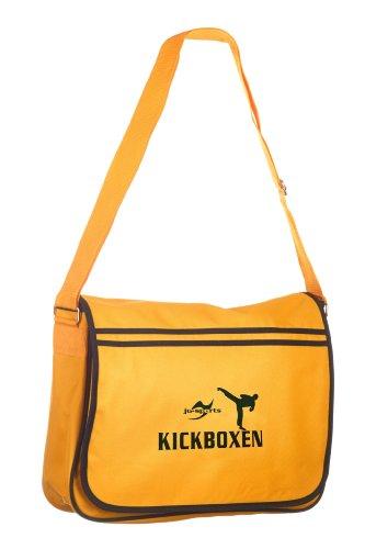 Retro Messenger Bag gold/schwarz Kickboxen