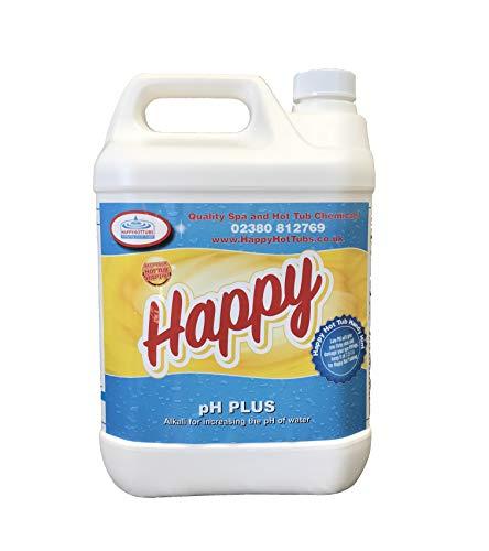 Happy Hot Tubs Quality PH + Plus Hot Tub Swimming Pool Soda Ash Increaser Tubs Spa, 5 kg