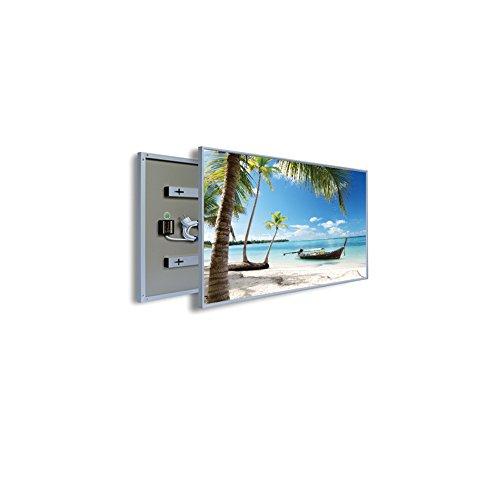 coldfig hting höchststufe 1005 * 1195 mm 1200 W Argent Aluminium Surface Imprimer fernes – Panel Chauffage électrique radiateur mural infrarouge