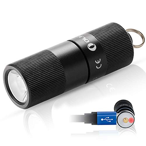 Olight i1r eos 130 lumen piccolissima torcia a led torcia ricaricabile portachiavi mini impermeabile ipx8, raggio di luce 54m lente tir, per outdoors e casa