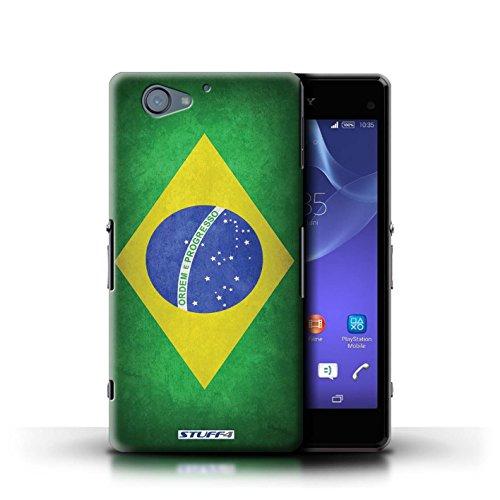 Kobalt® Imprimé Etui / Coque pour Sony Xperia A2 / Irlande/irlandais conception / Série Drapeau Brésil/brésilien