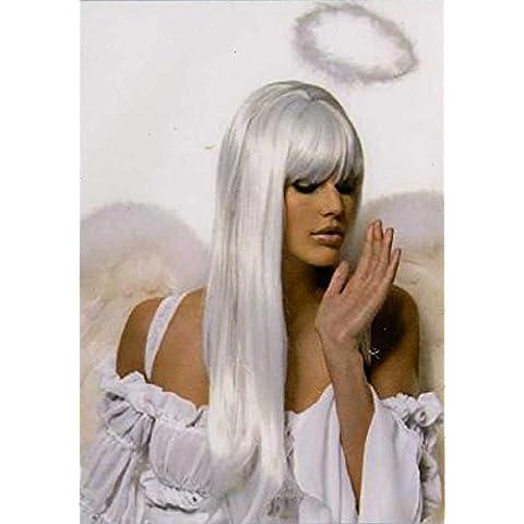 Pelucas mujeres largo blanco