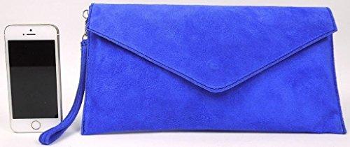 Große Handtasche Geschäft - Damen Umschlaghandtasche aus echtem italienischem Leder mit Staubbeutel senfgelb