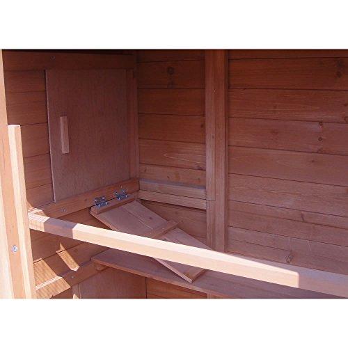 XXL Hühnerstall Freilaufgehege Freigehege Holz Hasen Stall Kaninchenstall - 7