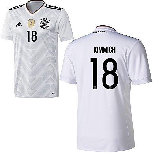 Adidas DFB Deutschland Fussball Trikot Home Herren 2017 2018 Joshua Kimmich 18 weiß schwarz Größe M