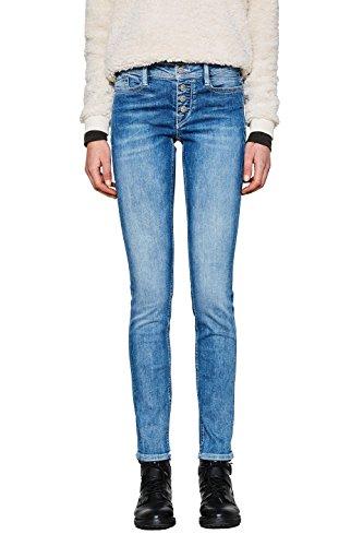 edc by ESPRIT Damen Slim Jeans 997CC1B818, Blau (Blue Light Wash 903), W25/L30