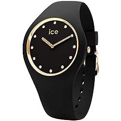 Ice-Watch - Ice Cosmos Black Gold - Montre Noire pour Femme avec Bracelet en Silicone - 016295 (Medium)