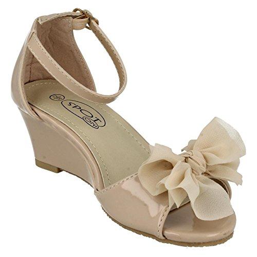 Spot on , Chaussures à bout ouvert fille Hautfarben - Nude Patent