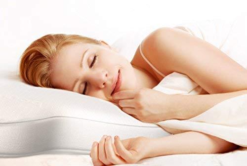 Cuscino Per Chi Dorme Di Lato.Bonmedico Cuscino Ortopedico In Memory Foam Per Chi Dorme Prono O