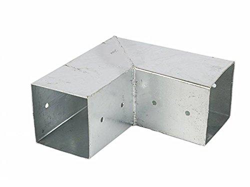 Pfostenverbinder, Pfostenecke für 2-Kantholz Balken 12 x 12 cm, feuerverzinkter Pfostenträger, bauen Sie Ihre eigene Pergola