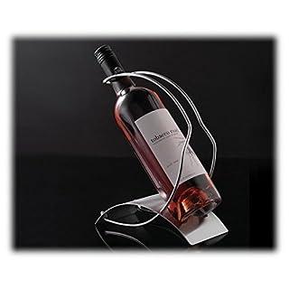 ASC Wine Bottle Holder Rack Brushed Steel Plate Wire holder open or sealed bottles …