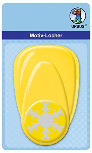 Ursus 19490071 - Motivlocher Schneeflocke 2, ca. 38,1 mm, gelb