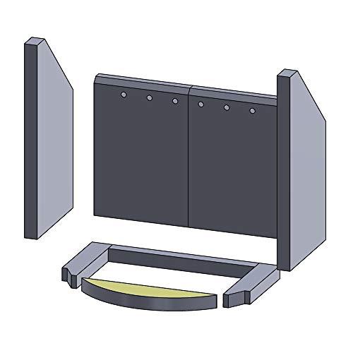 Flamado Bodenstein vorne 265x57x25mm (Schamotte)
